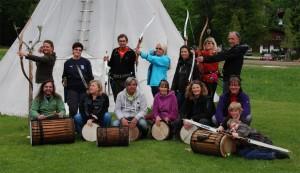 Trommelen und Bogenschießen 2012